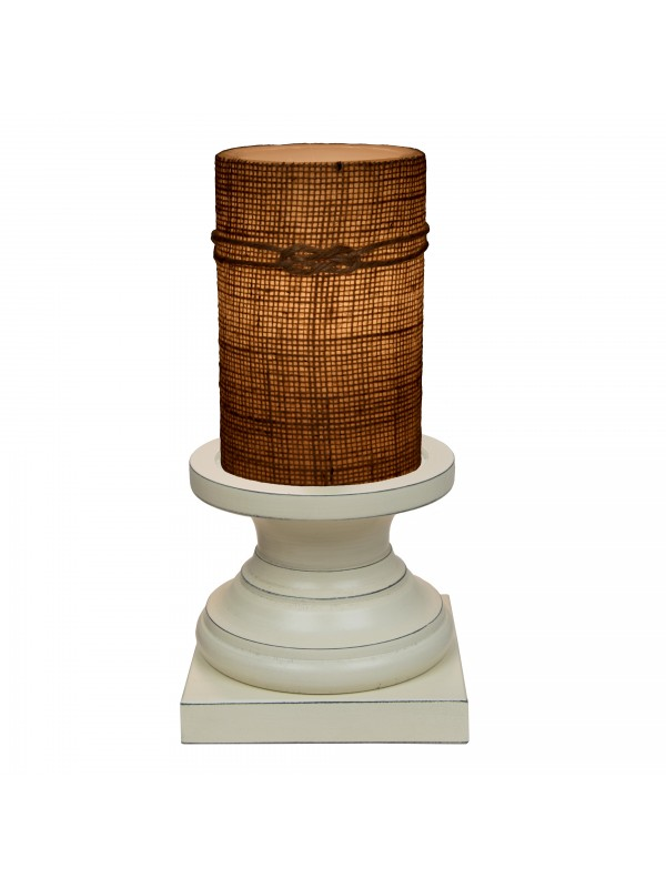 Small Jefferson Antique Pedestal in Country White